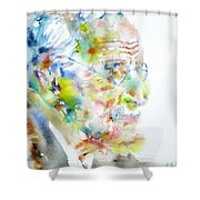 Jung - Watercolor Portrait.4 Shower Curtain