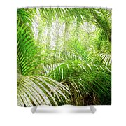 Jungle Abstract 1 Shower Curtain