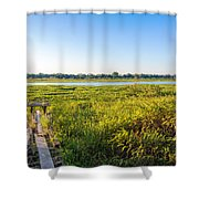 Jungle And Lake Shower Curtain