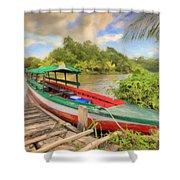 Jungle Boat Shower Curtain