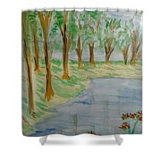 Jungle-brookside Shower Curtain