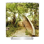 Jungle Canoe Shower Curtain
