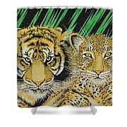 Jungle Cats Shower Curtain
