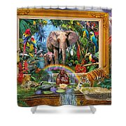 Jungle Coming Shower Curtain