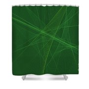 Jungle Computer Graphic Line Pattern Shower Curtain
