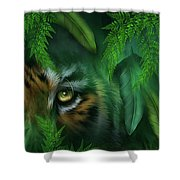 Jungle Eyes - Tiger And Panther Shower Curtain