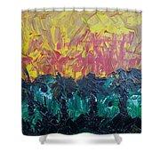 Jungle Fire Shower Curtain