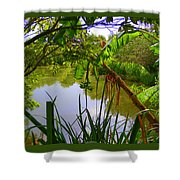 Jungle Garden View Shower Curtain