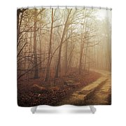 Jungle Journey - The Path Sepia Shower Curtain