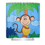 Jungle Monkey Shower Curtain