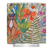 Jungle Scene With Monkey Shower Curtain