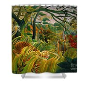 Jungle Storm 1891 Shower Curtain