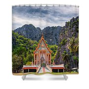 Jungle Temple Shower Curtain by Adrian Evans