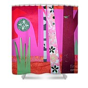 Jungle Temple Shower Curtain