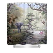 Jungle Treehouse Shower Curtain