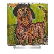 Junk Yard Dog Shower Curtain