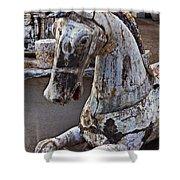 Junkyard Horse Shower Curtain