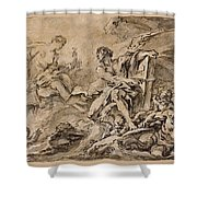 Juno Asking Aeolus To Release The Winds Shower Curtain