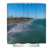 Juno Beach Shower Curtain by Jody Lane