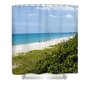 Juno Beach On The East Coast Of Florida Shower Curtain
