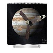 Juno Mission To Jupiter Shower Curtain