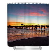 Juno Pier Colorful Sunrise Shower Curtain