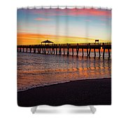 Juno Pier Colorful Sunrise Panoramic Shower Curtain