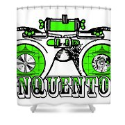 Junquentoys Test Pattern Goggles Shower Curtain