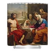 Jupiter And Mercury At Philemon And Baucis Shower Curtain
