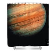 Jupiter, Europa, & Io Shower Curtain