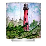 Jupiter Florida Lighthouse Shower Curtain