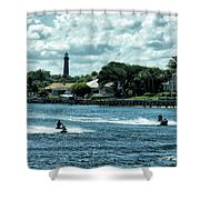 Jupiter Inlet And Lighthouse Shower Curtain