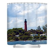 Jupiter Inlet Florida Shower Curtain