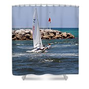 Jupiter Inlet In Florida Shower Curtain