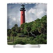 Jupiter Inlet Lighthouse Shower Curtain