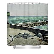 Jupiter Inlet Marine Marker One  Shower Curtain