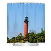 Jupiter Light In Florida Shower Curtain
