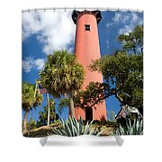 Jupiter Lighthouse II Shower Curtain