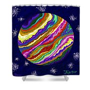 Jupiter Ss Shower Curtain