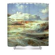 Jupiter Terrace Shower Curtain
