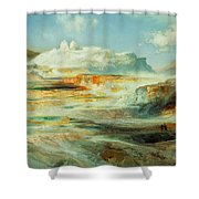 Jupiter Terrace  Yellowstone Shower Curtain