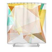 Jura Polygon Pattern Shower Curtain
