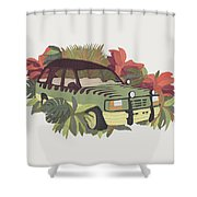 Jurassic Car Shower Curtain