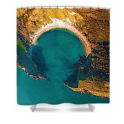 Jurassic Coast From The Air Shower Curtain