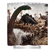 Jurassic Swamp Shower Curtain