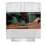 Jurassic World Fallen Kingdom 2.5 Shower Curtain