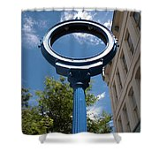 Just A Blue Hole Now Shower Curtain