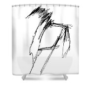 Just A Horse Sketch Shower Curtain