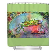 Just A Little Crabby Shower Curtain