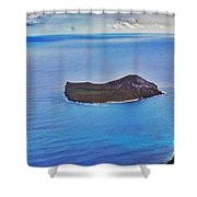 Just An Island Away Shower Curtain